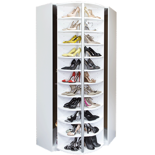 360 Organizer Shoe Spinner built-in cabinet model