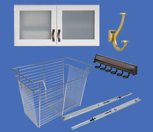 closet accessories for closet organizer systems